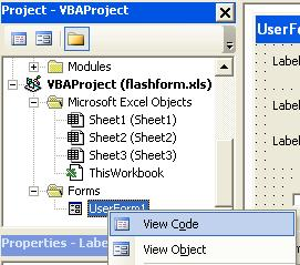 VBA Label - Click View Code