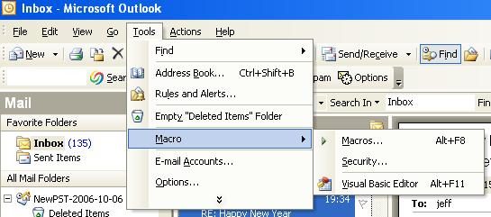 Outlook VBA Macro