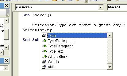 Running a Macro Using VBA