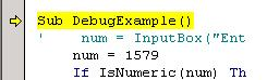 VBA Tutorial Debug