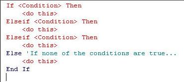 If Then statements in VBA